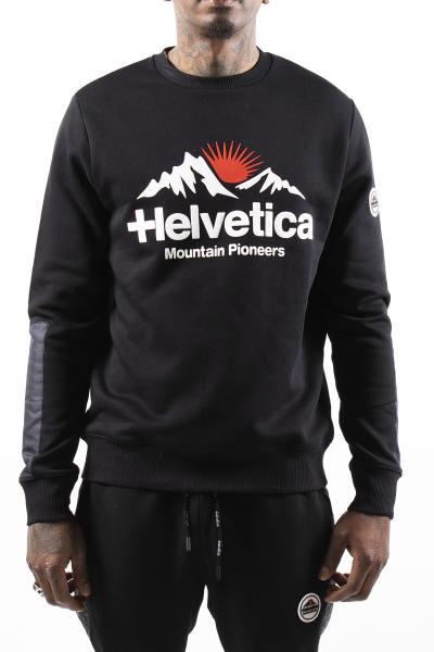 Pull noir streetwear logo poitrine              title=