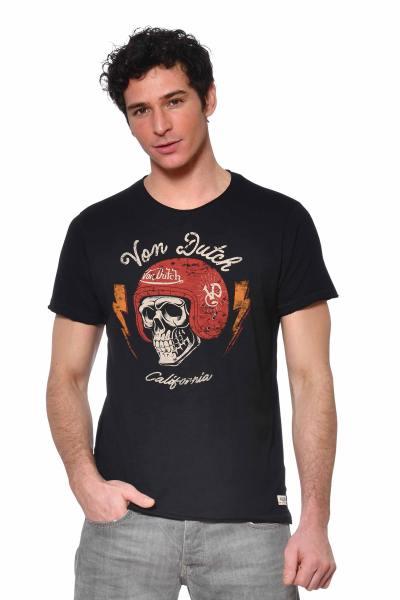 Tshirt noir col rond Kustom Kulture              title=