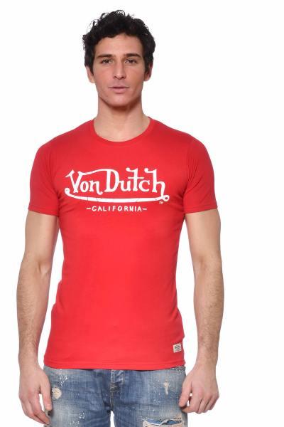 T-shirt rouge coton élasthanne