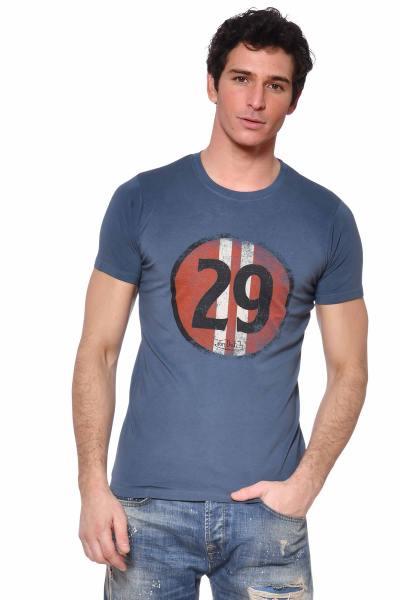 Tshirt bleu indigo Racing 29              title=