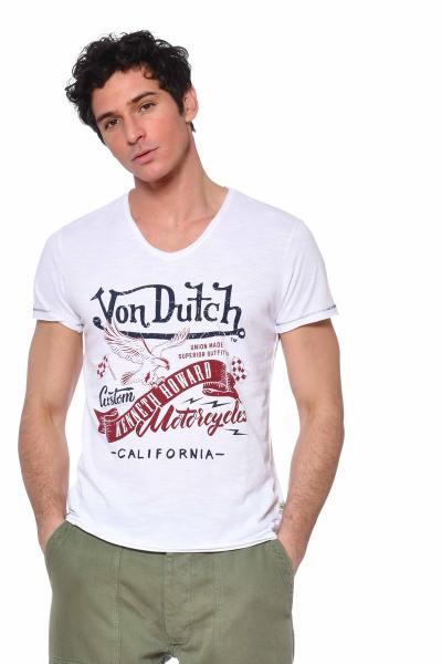 Tee-shirt homme Kustom Kulture col V              title=