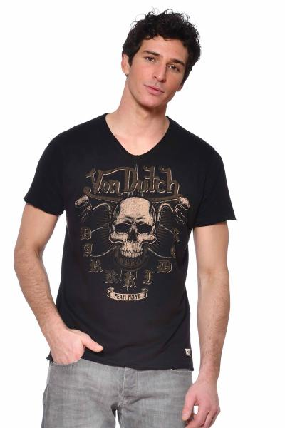Schwarzes Biker-T-Shirt Fear none              title=