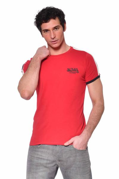 Tee-shirt rouge col rond              title=