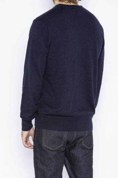 Pull col rond bleu marine              title=