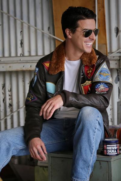 Echte G-1-Jacke aus dem Film TOP GUN