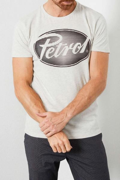 Weißes T-Shirt mit Rundhalsausschnitt Mann
