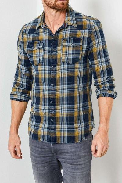 Blau-gelb kariertes Hemd