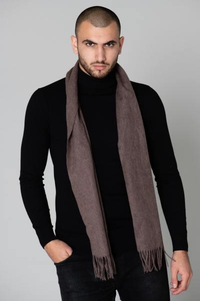 Eleganter brauner Schal für Männer