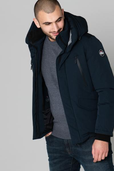 Warme Herrenjacke marineblau              title=