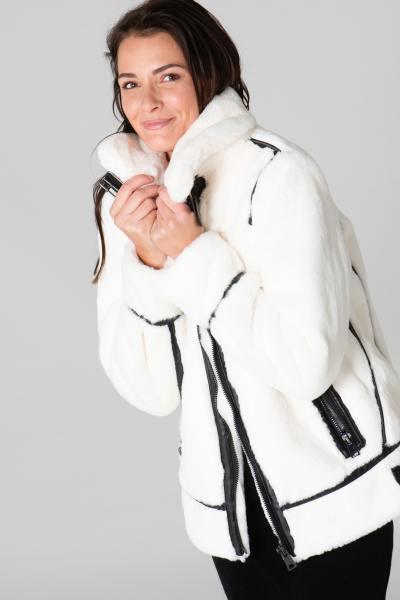 Bombardier blanc ivoire en polyester              title=