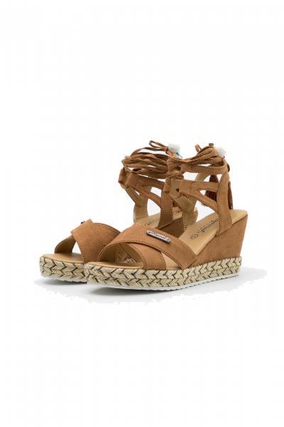 Chaussures à lacets femme kaporal shoes TANAYA COGNAC              title=