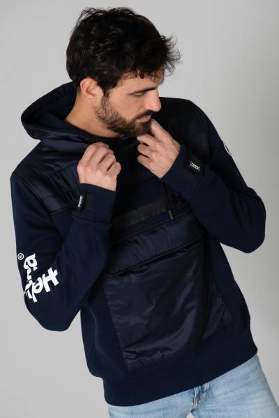 Blouson en textile sportswear bleu              title=