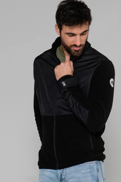 Blouson noir streetwear              title=