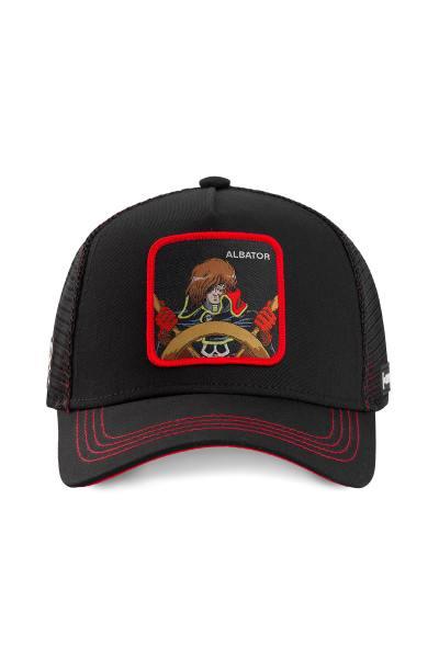 Casquette noire et rouge Albator              title=