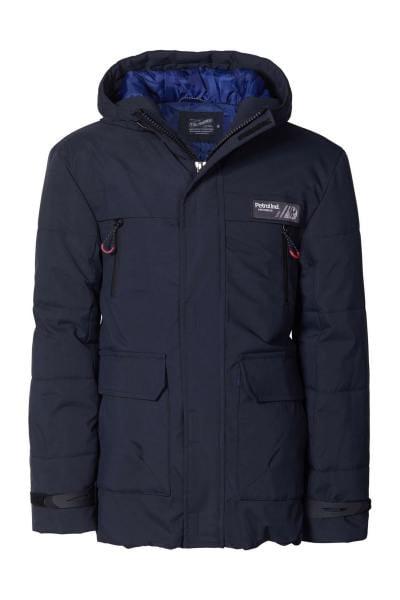 Warmer Mantel mit abnehmbarer Kapuze für Kinder