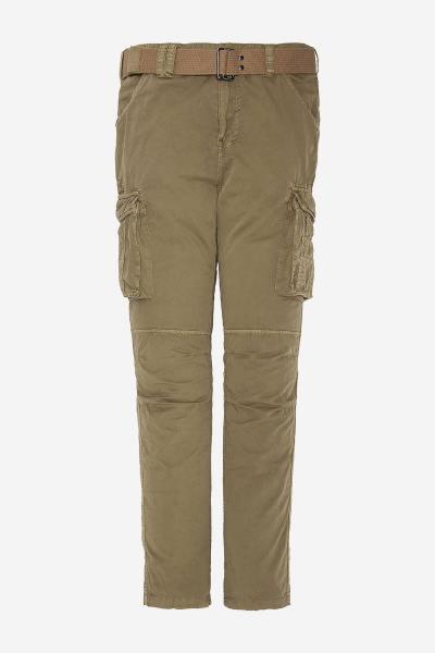 Pantalon beige style cargo              title=