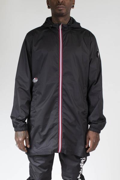 Manteau coupe-vent zippé noir