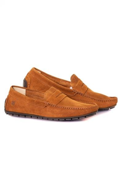 Brauner Wildleder-Loafer