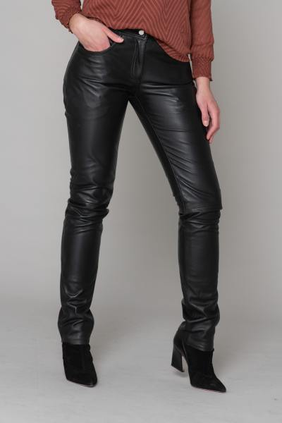Pantalon en cuir cinq poches