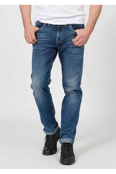 Verblichene normale Jeans im Vintage-Look