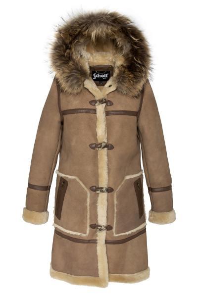 Long manteau lainée Duffle Coat