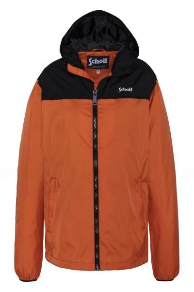 Blouson en nylon imperméable couleur orange