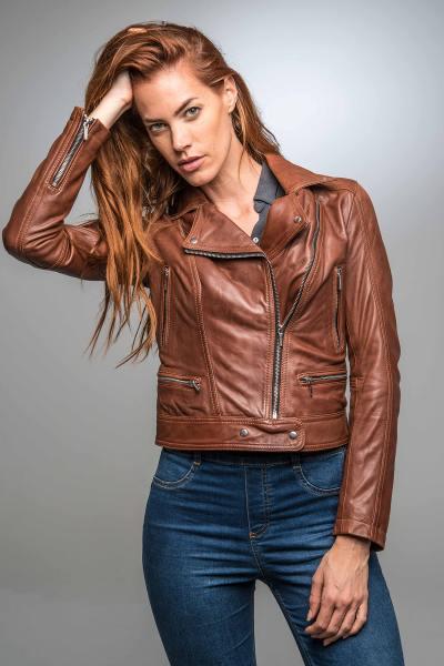 Blouson cuir perfecto femme