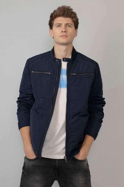 Blouson en polyester bleu marine