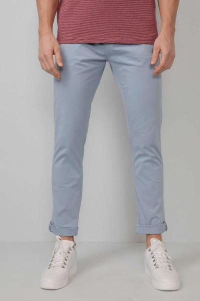 Pantalon chino bleu-gris