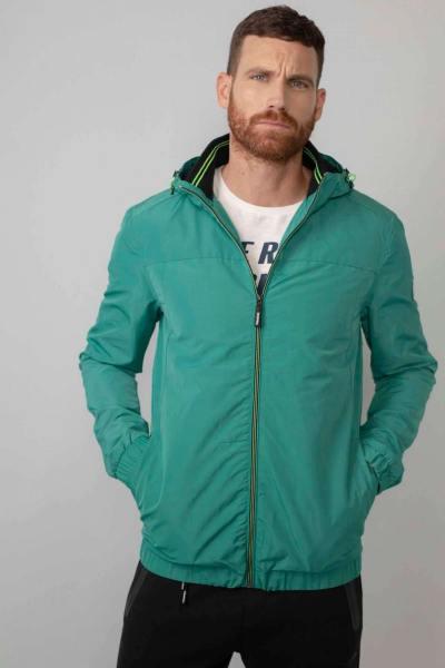 Blouson coupe-vent vert clair en polyester recyclé