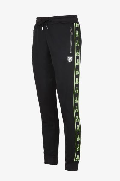 Schwarz-grüne Jogginghose