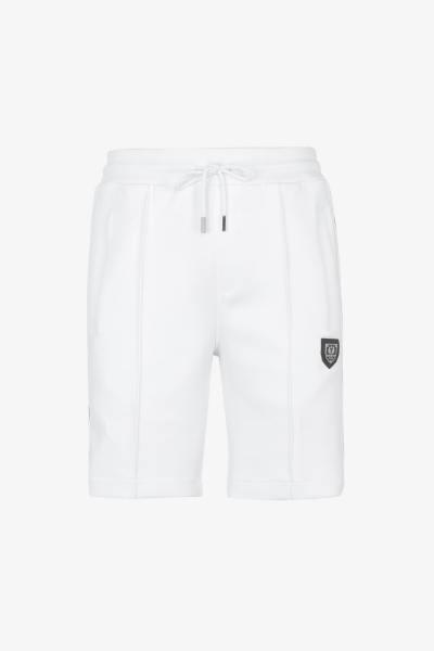 Weiße Shorts mit Kordelzug