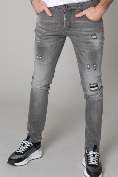 Jeans schmal grau zerstört