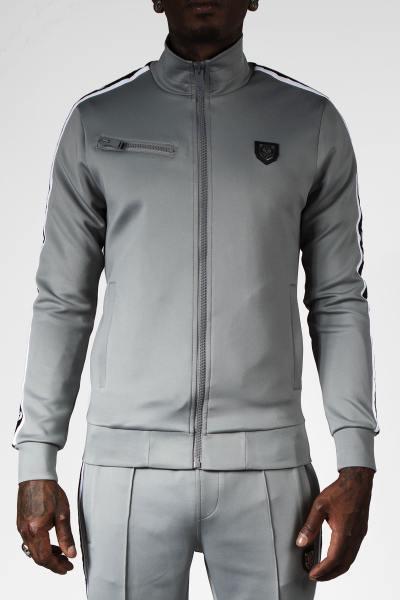 Veste de survêt zippée grise