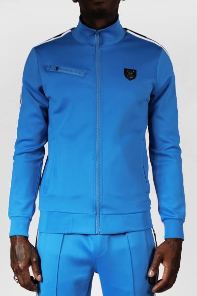 Azurblaue Jacke mit Reißverschluss