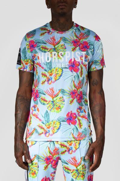 T-Shirt hahiti florales Muster