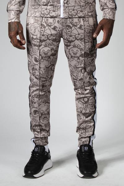 Sandfarbene Streetwear-Hose