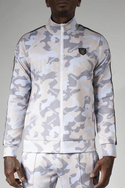 Veste jogging camouflage sahara