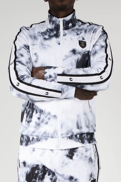 Jacke mit Reißverschluss und Wolkendruck