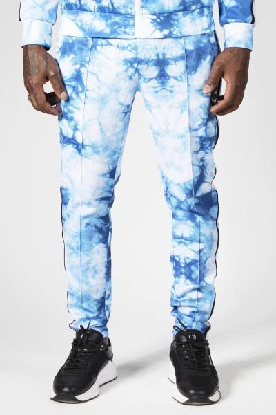 Blau gemusterte Jogginghose