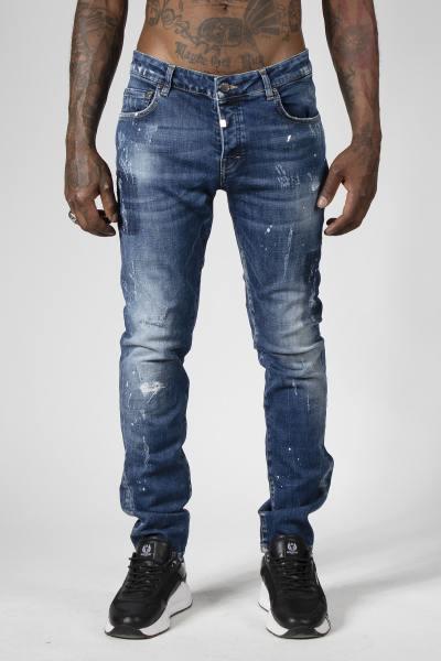 Blaue Slim-Jeans für Männer