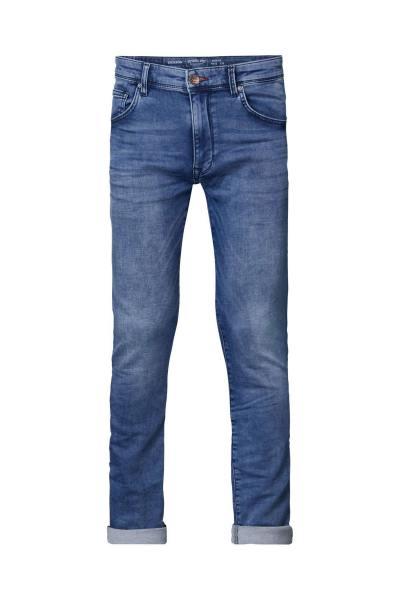 Blaue Komfort-Jeans