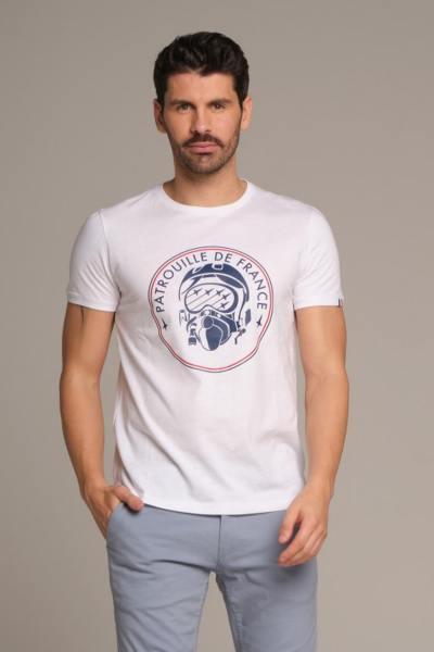 Weißes T-shirt Patrouille de France