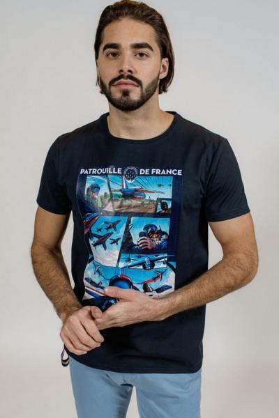 T-Shirt bleu marine BD Patrouille de France