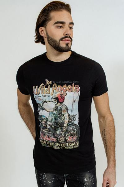 T-shirt noir The Wild Angels