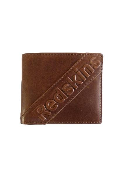 Portefeuille en cuir marron
