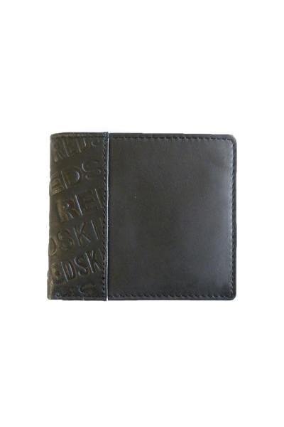 Portefeuille homme en cuir noir