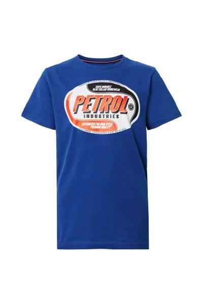 Blaues Kurzarm-T-Shirt