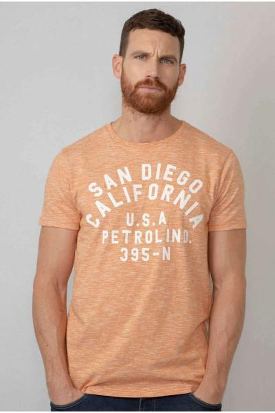 Tee-shirt orange chiné