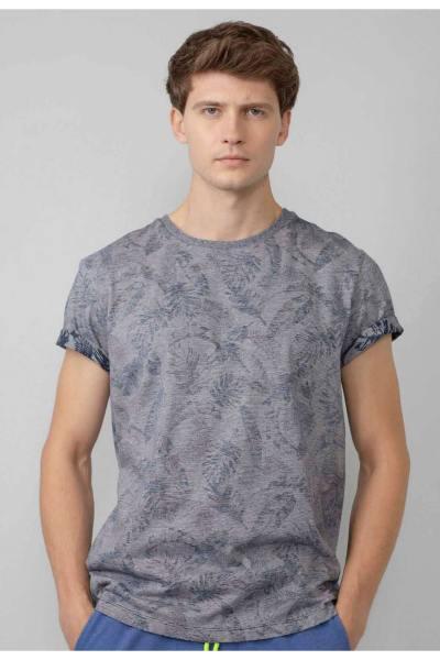 T-shirt motif fleural homme